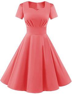 Beautiful Casual Dresses, Elegant Dresses, Pretty Dresses, Vintage Dresses, Skirt Fashion, Fashion Dresses, 70s Mode, Prom Dresses, Short Sleeve Dresses