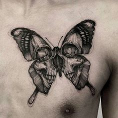 ... Butterfly images for drawing Skull tattoos and Pretty skull tattoos