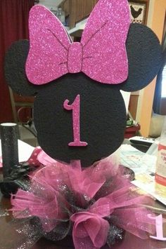 Minnie Mouse centerpiece: