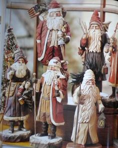 Wonderful collection of Handcarved Santas // Photo via web....