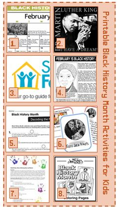 Black History month is about 1/2 way over now!  How did February fly by so quickly?  Anyway, if you are like me, the stack of things you had planned to use to teach your kids about this very important part of our History is almost depleted.  No worries!  I have compiled a list of 10 printable Black History Month Activities for Kids!