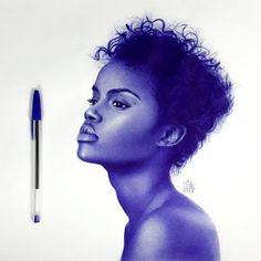 Celebrities and Non - Ballpoint Pen Portraits Biro Art, Ballpoint Pen Drawing, Ink Pen Drawings, Drawing Artist, Painting & Drawing, Stylo Art, Pen Illustration, Graphic Illustrations, Inspiration Art