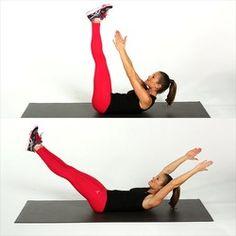 12 Buikspieroefeningen voor Thuis: Supersnel een Platte Buik Circuit Training, Yoga Gym, Workout For Beginners, Workout Challenge, Pilates, Abs, Health Fitness, Challenges, Exercise