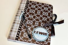 Altered composition notebook journal, custom and personalized, to do list, teacher gift, back to school. $12.00, via Etsy.