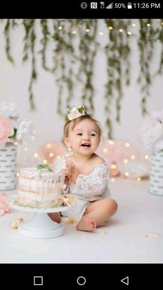 girl first birthday pictures - girl first birthday party ideas Baby Cake Smash, 1st Birthday Cake Smash, Baby Girl 1st Birthday, Birthday Sweets, Birthday Ideas, Cake Smash Cakes, Cake Smash Outfit Girl, 1 Year Birthday, Birthday Quotes