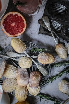 Pink Grapefruit and Rosemary Madeleines | A Guest Post from Twigg Studios