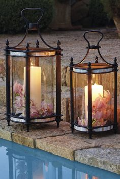 Enjoy Your Spring With Diy Outdoor Lanterns Enjoy Your Spring With Diy Outdoor Lanterns Enjoy Your Spring With Diy Outdoor LanternsWhen choosing outdoor lighting for your home, c Lanterns Decor, Outdoor Decorations, Outdoor Candle Lanterns, Porch Lanterns, Luxury Home Decor, Solar Lights, Outdoor Lighting, Lighting Ideas, Candle Sconces
