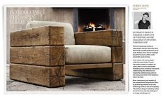 Resto's New Aspen Outdoor Collection - we could make ALL of these pieces ourselves in a few days.