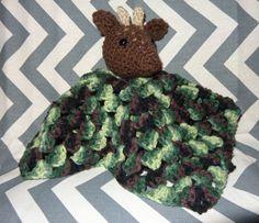 Deer Lovey Blanket Rattle by GypsySoulsCrafts on Etsy