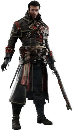 View an image titled 'Shay Cormac Art' in our Assassin's Creed Rogue art gallery featuring official character designs, concept art, and promo pictures. Assassins Creed Rogue, Assassins Creed Costume, Character Creation, Game Character, Dnd Characters, Fantasy Characters, Assasins Cred, Armadura Medieval, Templer