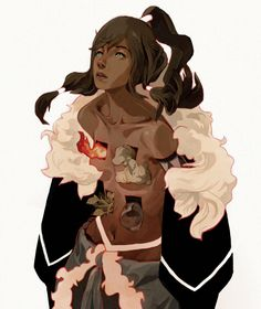 Prophet by Sachin Teng (~contraomnes, US) ::Korra from The Legend of Korra; great conceptual art of the avatar {traditional, 2012}