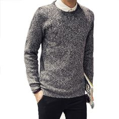 Man Pulover Special Offer Full High Quality 2016 New Patter Slim Solid Color Long-sleeved O-neck Casual Men Sweater #Affiliate