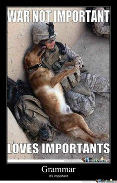 War's not important , love's important