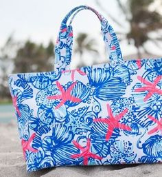Lilly Pulitzer starfish tote
