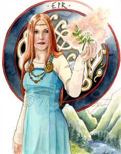 Eir Norse Goddess of healing   print by NicoleCadet
