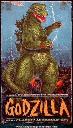 """Aurora - """"Godzilla"""" Plastic Model Kit. NICE! Who remembers building this when they were a kid?"""