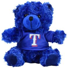 Forever Collectibles Texas Rangers Plush Bear ($15) ❤ liked on Polyvore featuring red