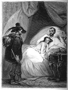 illustration Tony Johannot : Le mari, la femme et le voleur