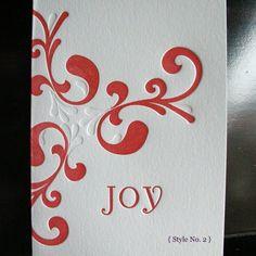 Letterpress Holiday Cards...Joy No. 2 by vanoraletterpress on Etsy