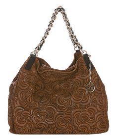 e205418d838431 Loving this Brown Leather Swirl Hobo on #zulily! #zulilyfinds Swirl Design,  Swirls