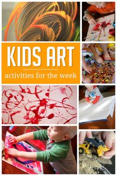A week of art projects for the kids to do