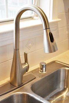 A New Kitchen Faucet!   Beneath My Heart #MoenDIYer