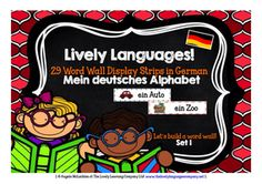 PRIMARY GERMAN - Mein deutsches Alphabet - 29 Word Wall Strips & Labelling/Colouring Posters