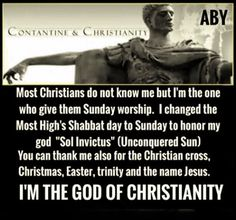 """Many pagan gods are named Christos, and have a derivative that name, such as Lord Krishna in the religion of Hinduism. Roman Emperor Constantine worshiped """"Christos Helios"""" which means """"Christ-The-True-Sun."""" ►The Messiah's Hebrew name was changed from Yahusha to Jesus Christ, which specifically means """"Hail Zeus-Krishna."""" ►The reference to Christ was never a Greek equivalent of the Hebrew word Messiah, but it specifically comes from the name of a pagan god Christna or Krishna."""