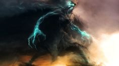 HD wallpaper: cloud with lightnings digital wallpaper, fantasy art, cloud - sky Cloud Wallpaper, More Wallpaper, 1080p Wallpaper, End Times News, Latest Hd Wallpapers, Desktop Wallpapers, Fantasy Monster, Storm Clouds, Fantasy Creatures