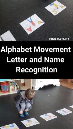 Alphabet movement activity that involves letter and name recognition. Not only could you do this, but think of including sight words and even more literacy skills all with movement! These are awesome and the kids love them! Preschool Movement Activities, Name Activities, Preschool Music, Activities For Adults, Infant Activities, Physical Activities, Motor Activities, Music Games For Kids, Music For Toddlers
