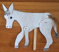 My Little Bookcase: MAKE YOUR OWN 'WINKY, WONKY DONKEY' PUPPET!