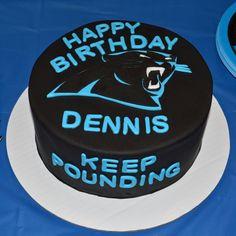 Carolina Panthers Birthday Cake Sports Theme Birthday, Birthday Cake, Birthday Parties, Birthday Ideas, Dessert Bars, Dessert Recipes, Desserts, Breakfast Recipes, Carolina Panthers Cake