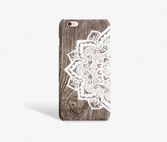 iPhone 6 Case Wood Print Mandala iPhone 6 Plus Case Wood Print Wood iPhone 6s Case Wood Samsung Galaxy S7 Case Wood PRINT not real wood