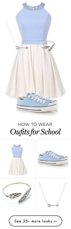 """""""School"""" by addiegirl15 on Polyvore featuring Converse and Adina Reyter"""