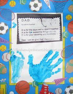 Handprint and Footprint Arts & Crafts: Handprint/Footprint Keepsake Gift with Dad Poem