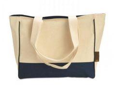 Bolsa reciclable plegable 100% algodón para la promoción del consumo responsable frente a las bolsas de plástico tradicionales