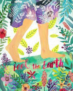 Feel the Earth Art Print by Mia Charro   Society6