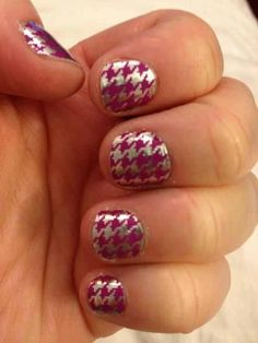 Purple and Silver Houndstooth. Suzzie Vehrs Jamberry