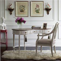 Stanley Furniture Charleston Regency Pinckney Ropemakers White Kidney Desk