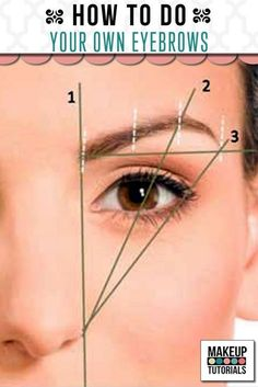 How To Do Your Own Eyebrows  How To Apply Eye Makeup, tutorials, and makeup tips…