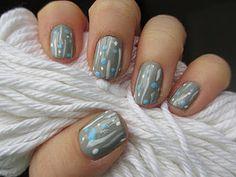 rainy day nails tutorial ♥♥