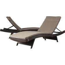 Ferrara Chaise Lounge with Cushion (Set of 2)