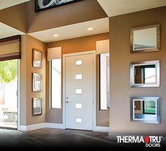 Therma tru 8 39 0 smooth star fiberglass door with salinas for Therma tru pulse