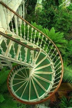visitheworld: Beautiful victorian cast iron spiral staircase in Kew Gardens, Sussex, England (by Erasmus T).Stairs at Kew Gardens, London, England Amazing Architecture, Architecture Details, Staircase Architecture, Interior Architecture, Kew Gardens London, Amazing Greens, Take The Stairs, Architectural Features, Architectural Elements