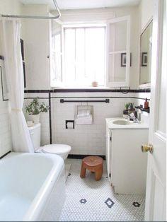 Stilvolle Schwarz Weiß Badezimmer Design
