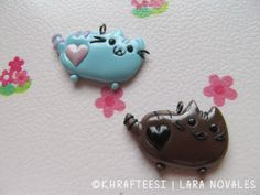 Pusheen charms - cold porcelain clay