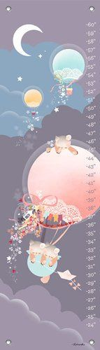 Oopsy Daisy Growth Chart Kites and Kittens Balloon Ride 12 x 42 -- You can get more details by clicking on the image.