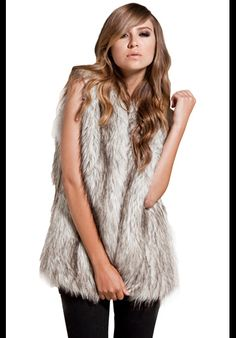 this like one warm and fuzzy fur vest!