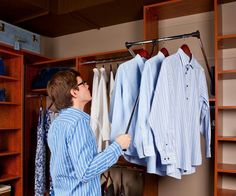Top 12 Minimalist Wardrobe Designs For Small Space : Innovative  Contemporary Style Wardrobe Lift Design Inspiration With Pull Down Closet  Ro.