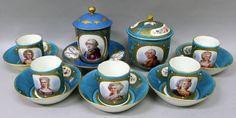 Set em porcelana Francesa Sevres do sec.19th, 6,960 USD / 6,200 EUROS / 27,060 REAIS / 45,780 CHINESE YUAN soulcariocantiques.tictail.com
